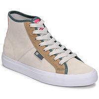 Boty Ženy Kotníkové tenisky DC Shoes MANUAL HI SE Béžová