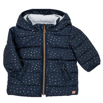 Textil Dívčí Prošívané bundy Carrément Beau AIGUE-MARINE Tmavě modrá