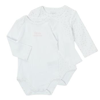 Textil Dívčí Pyžamo / Noční košile Carrément Beau ANTHRACITE Bílá