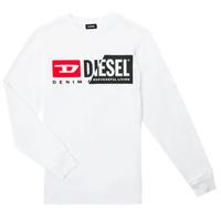 Textil Děti Trička s dlouhými rukávy Diesel TDIEGOCUTY ML Bílá