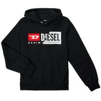 Textil Děti Mikiny Diesel SGIRKHOODCUTYX OVER Černá