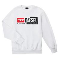 Textil Děti Mikiny Diesel SGIRKCUTY OVER Bílá