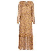 Textil Ženy Společenské šaty Vila VIFALIA Zlatohnědá