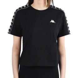 Textil Ženy Trička s krátkým rukávem Kappa Inula T-Shirt Černá