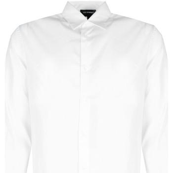 Textil Muži Košile s dlouhymi rukávy Les Hommes  Bílá
