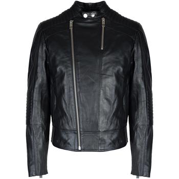 Textil Muži Kožené bundy / imitace kůže Les Hommes  Černá