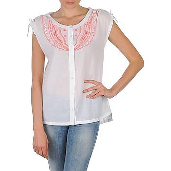 Textil Ženy Košile s krátkými rukávy Antik Batik AYLA Bílá