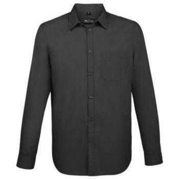 Textil Muži Košile s dlouhymi rukávy Sols BALTIMORE FIT NEGRO Negro