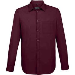 Textil Muži Košile s dlouhymi rukávy Sols BALTIMORE FIT FUCSIA Violeta