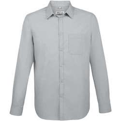 Textil Muži Košile s dlouhymi rukávy Sols BALTIMORE FIT GRIS Gris
