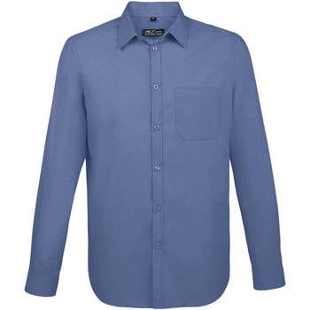 Textil Muži Košile s dlouhymi rukávy Sols BALTIMORE FIT AZUL Azul