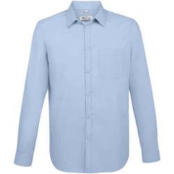 Textil Muži Košile s dlouhymi rukávy Sols BALTIMORE FIT AZUL CIELO Otros