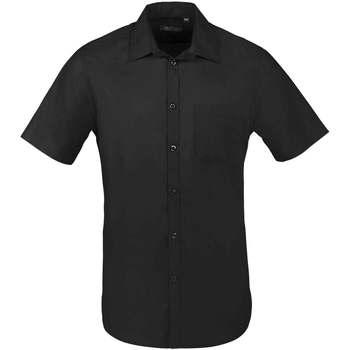 Textil Muži Košile s krátkými rukávy Sols BRISTOL FIT Negro Negro