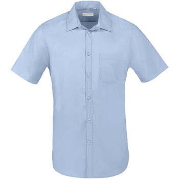 Textil Muži Košile s krátkými rukávy Sols BRISTOL FIT Azul Cielo Azul