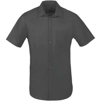 Textil Muži Košile s krátkými rukávy Sols BRISTOL FIT Gris Titanio Gris