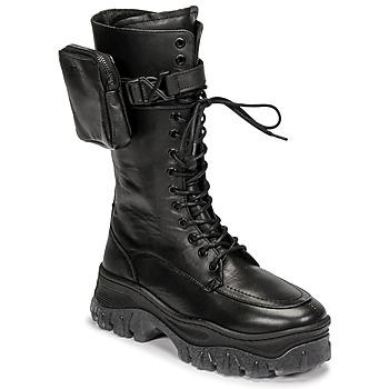 Boty Ženy Kotníkové boty Bronx JAXSTAR HIGH Černá