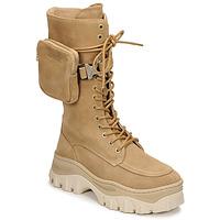 Boty Ženy Kotníkové boty Bronx JAXSTAR HIGH Béžová