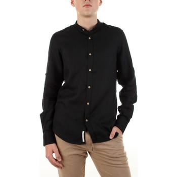 Textil Muži Košile s dlouhymi rukávy Yes Zee C506-U400 Černá