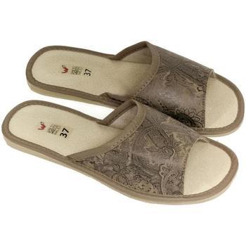Boty Ženy Papuče John-C Dámske luxusné kožené hnedé papuče KINGA ťavia