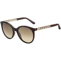 Hodinky & Bižuterie Ženy sluneční brýle Jimmy Choo  Hnědá