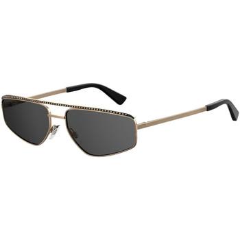 Hodinky & Bižuterie Ženy sluneční brýle Love Moschino  Zlatá