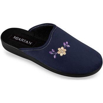 Boty Ženy Papuče Mjartan Dámske modré papuče  IVANA tmavomodrá