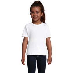 Textil Dívčí Trička s krátkým rukávem Sols CHERRY Blanco Blanco
