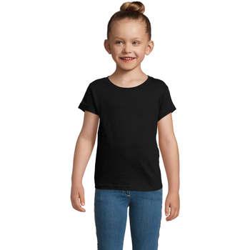 Textil Dívčí Trička s krátkým rukávem Sols CHERRY Negro Negro
