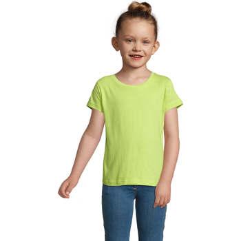 Textil Dívčí Trička s krátkým rukávem Sols CHERRY Verde Manzana Verde