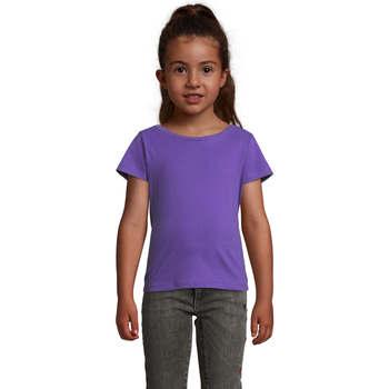 Textil Dívčí Trička s krátkým rukávem Sols CHERRY Morado Oscuro Violeta