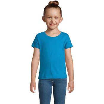 Textil Dívčí Trička s krátkým rukávem Sols CHERRY Aqua Azul