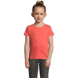 Textil Dívčí Trička s krátkým rukávem Sols CHERRY Coral Otros