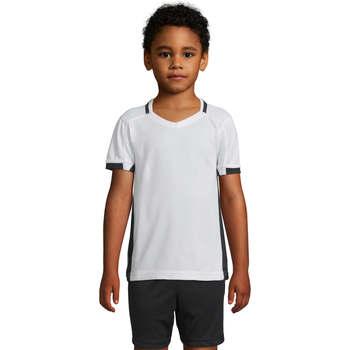 Textil Dívčí Trička s krátkým rukávem Sols CLASSICO KIDS Blanco Negro Blanco