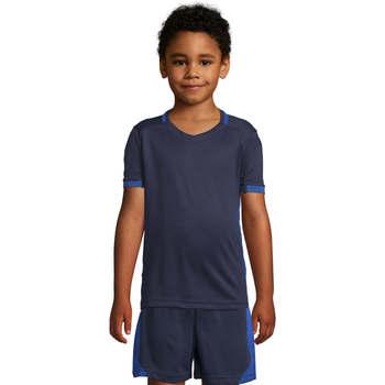 Textil Děti Trička s krátkým rukávem Sols CLASSICOKIDS Marino Azul Azul