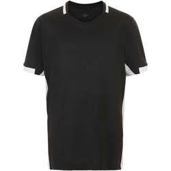 Textil Chlapecké Trička s krátkým rukávem Sols CLASSICOKIDS Negro Blanco Negro