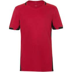 Textil Chlapecké Trička s krátkým rukávem Sols CLASSICO KIDS Rojo Negro Rojo