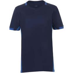 Textil Chlapecké Trička s krátkým rukávem Sols CLASSICO KIDS Azul Marino Azul