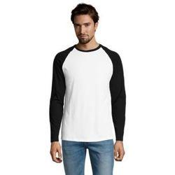Textil Muži Trička s dlouhými rukávy Sols FUNKY LSL Blanco Negro Blanco