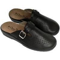 Boty Muži Pantofle Mjartan Pánske kožené čierme papuče  DEREK čierna