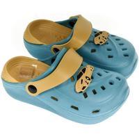 Boty Chlapecké Pantofle John-C Detské modré crocsy ELLI 24-29 svetlomodrá