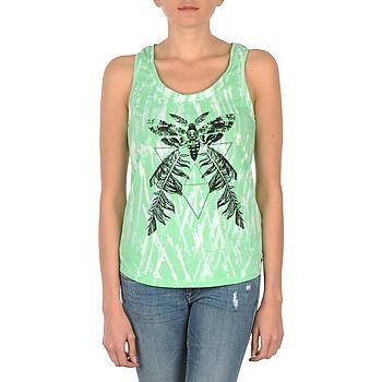 Textil Ženy Tílka / Trička bez rukávů  Eleven Paris PAPILLON DEB W Zelená / Bílá