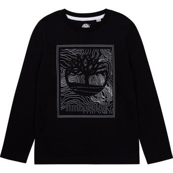 Textil Chlapecké Trička s dlouhými rukávy Timberland AIFRET Černá