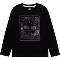 Textil Chlapecké Trička s dlouhými rukávy Timberland BAGIRI Černá