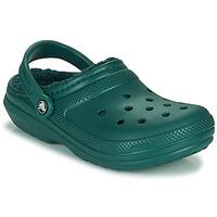 Boty Pantofle Crocs CLASSIC LINED CLOG Zelená
