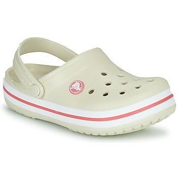 Boty Děti Pantofle Crocs CROCBAND CLOG K Béžová / Oranžová