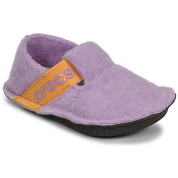 Boty Dívčí Papuče Crocs CLASSIC SLIPPER K Fialová / Žlutá