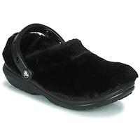 Boty Ženy Pantofle Crocs CLASSIC FUR SURE Černá