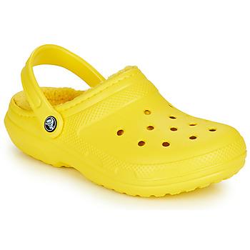 Boty Pantofle Crocs CLASSIC LINED CLOG Žlutá