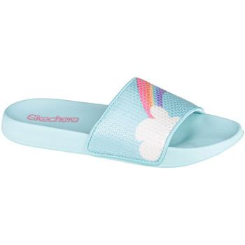 Boty Děti pantofle Skechers Sunny Slides-Dreamy Steps Modrá