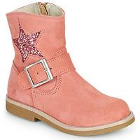 Boty Dívčí Kotníkové boty Citrouille et Compagnie POUDRE Růžová